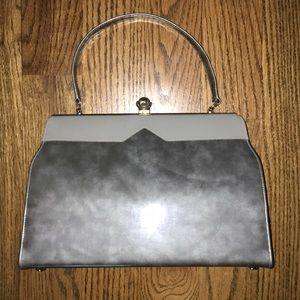 Handbags - Gray purse vintage. Unique clasp